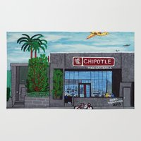 hollywood Area & Throw Rugs featuring Chipotle - Hollywood by Jake Hollywood