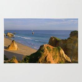 Praia da Rocha beach, Portugal Rug