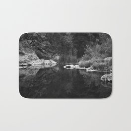 Shoreline Reflection On the Water Bath Mat