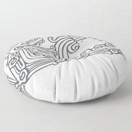 Quetzalcoatl Design Floor Pillow