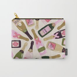 French Champagne Collection – Pink & Green Carry-All Pouch