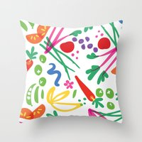 health Throw Pillows featuring Picture of Health by ColorisBrave