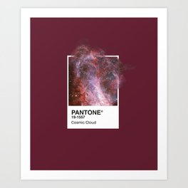 PANTONE SERIES – COSMIC CLOUD Art Print