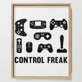Control Freak, Gamer Gift, Video Game, Gaming Serving Tray