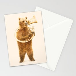 The Bear and his Helicon Stationery Cards