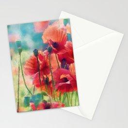 Poppy Parade Stationery Cards