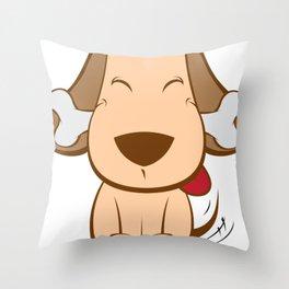 Cartoon Cute Dog Throw Pillow