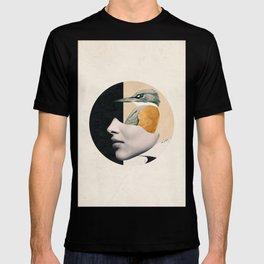 collage art / bird T-shirt