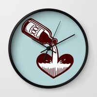 fitzgerald Wall Clocks featuring F. Scott Fitzgerald by Kip Noschese