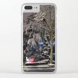Haunted Corner Clear iPhone Case