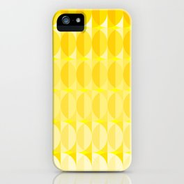 Leaves in the sunlight - a pattern in yellow iPhone Case