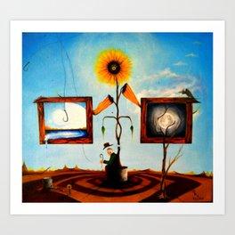 Sunflower Farmer Art Print