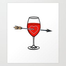 Say You'll Be Wine Art Print