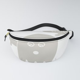 Boo Ghost Disapproving Lazy Halloween Costume design Fanny Pack