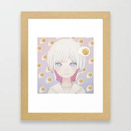 Silence egg-san Tamago fuyashitabaai Framed Art Print
