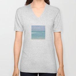 Seashore Chopy Waves Unisex V-Neck