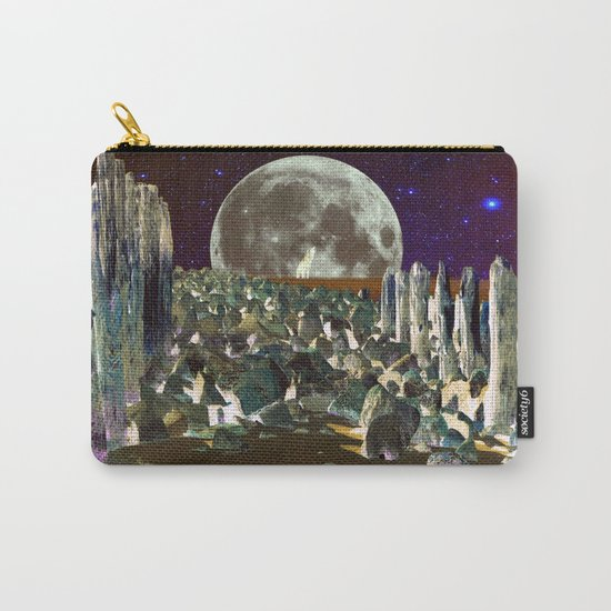 wolf moon nigth Carry-All Pouch