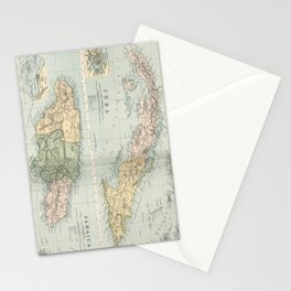 Vintage Map of Cuba and Jamaica (1892)  Stationery Cards