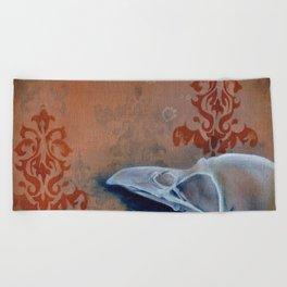 Oil Paint Study - Magpie Pattern Beach Towel