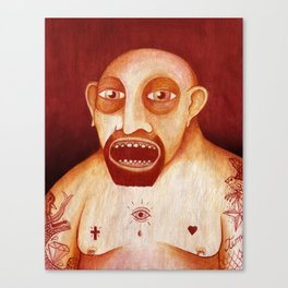Los tattoos del sombra Canvas Print