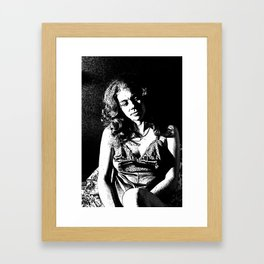 Rosie Reflecting Framed Art Print