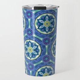 Watercolor Medallion Pattern Travel Mug