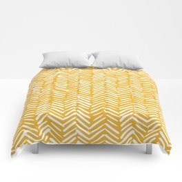 Boho Mudcloth Pattern, Summer Yellow Comforters