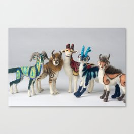 Fantastic Felted Beasts Canvas Print