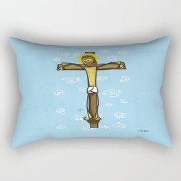 Jesus smiling Rectangular Pillow