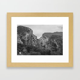 French Gorges in the winter [black and white] Framed Art Print
