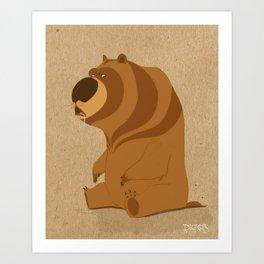 Huh! Bear Art Print