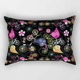 Cycledelic black Rectangular Pillow