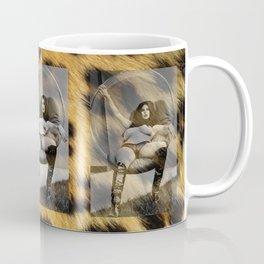 Vintage Pin Up - Stone Hard Femme Leopard Coffee Mug