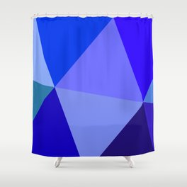 Prismatika Shades of Blue Shower Curtain