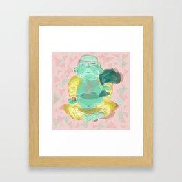 geometric buddha Framed Art Print