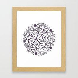 K - monogrammed initial K print Framed Art Print
