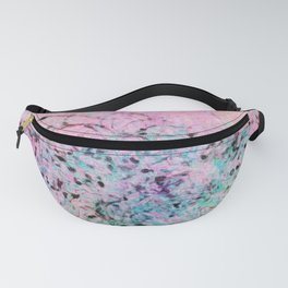 Abstract Painting - Pink & Ink Fanny Pack