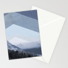 Winter Geometric Landscape Stationery Cards