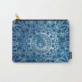 Fire Blossom - Blue Carry-All Pouch
