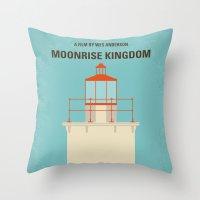 No760 My Moonrise Kingdom minimal movie poster Throw Pillow