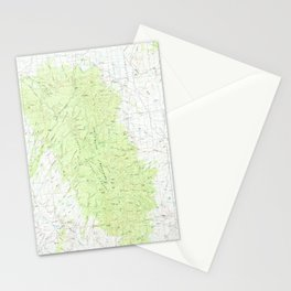 NM San Mateo Mountains 194359 1979 topographic map Stationery Cards