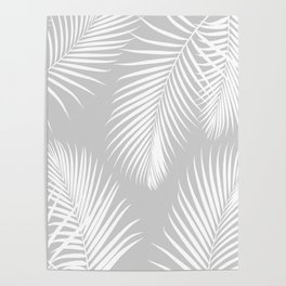 Gray Tropical Pattern Poster
