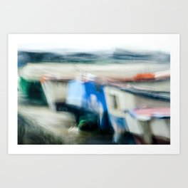 Boats Painting Art Print
