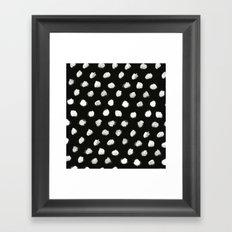 White Dots Pattern Framed Art Print