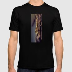 pine sap LARGE Mens Fitted Tee Black