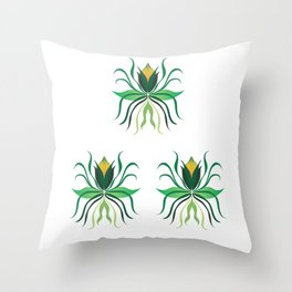 Delicate Flowers Throw Pillow