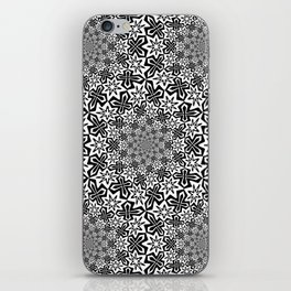 Star Vortex - Color: Black&White iPhone Skin