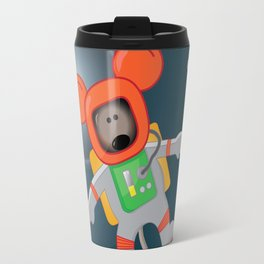 Space Mouse floating in space Travel Mug