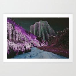 Velvet Mountains Art Print