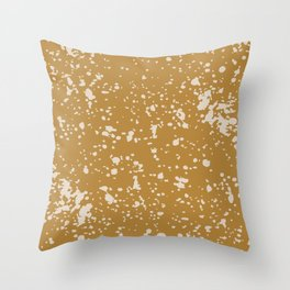barefoot and running Throw Pillow